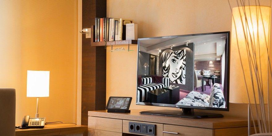 Aktuelle Technik: Gästezimmer im Atrium Hotel Mainz