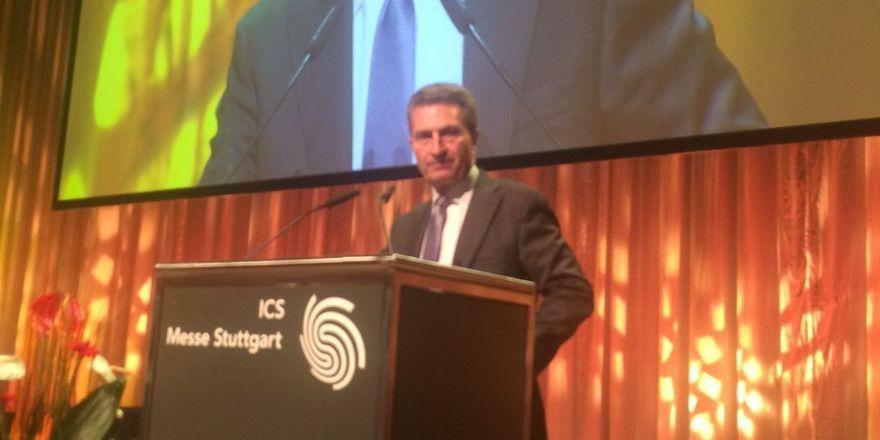 """Günther Oettinger: """"Es geht um Tourismus und Gastro 4.0"""""""