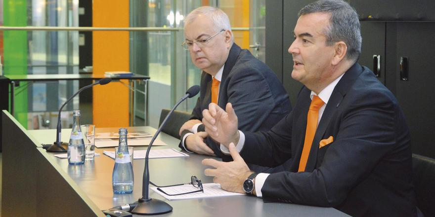 Wollen mehr Spielraum: Jürgen Kirchherr, Hauptgeschäftsführer des DEHOGA Baden-Württemberg (links), sowie der Präsident Fritz Engelhardt.