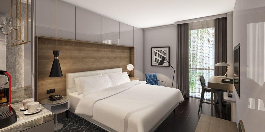 Modern und cosy: Insgesamt 240 Zimmer bieten ein Design der Mid-Century-Ära.