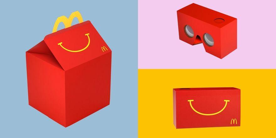 Schnelle Verwandlung: So wird aus dem Happy Meal eine Virtual-Reality-Brille