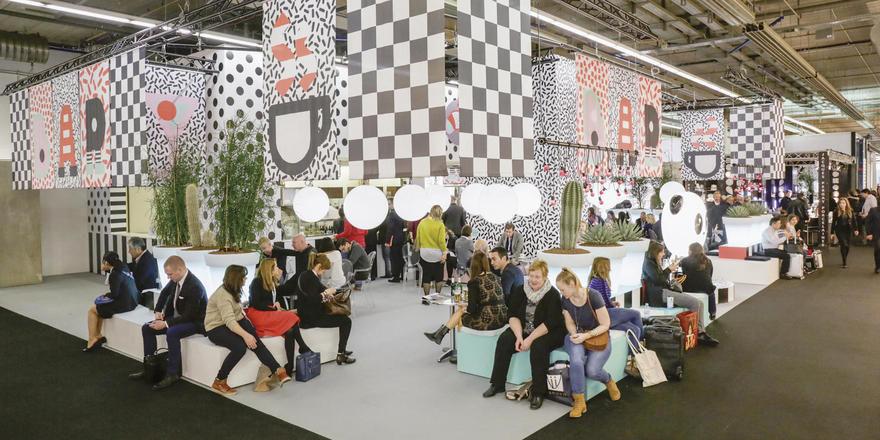 Ausstellung Designwelten auf der Ambiente: Das Café Milano als ein Beispiel für aktuelle Ausstattungstrends.