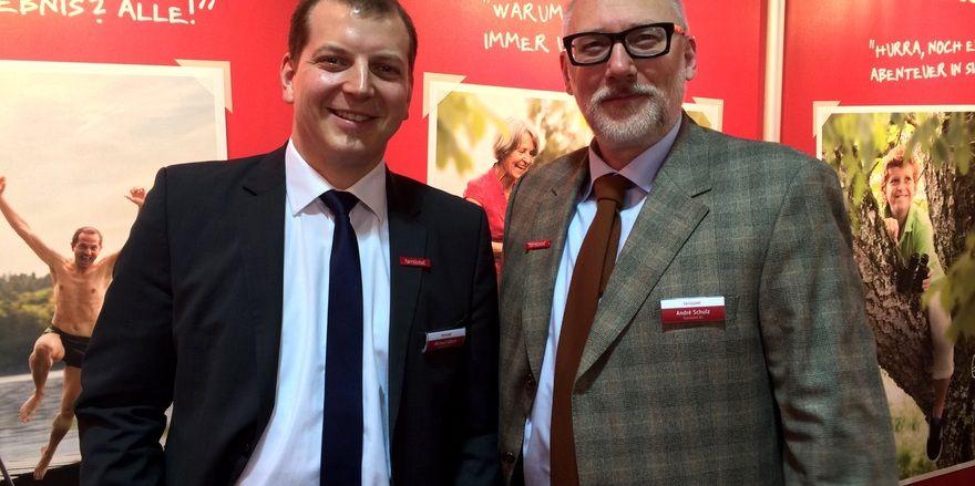 Haben viel vor: Michael Albert (links) und André Schulz von Familotel