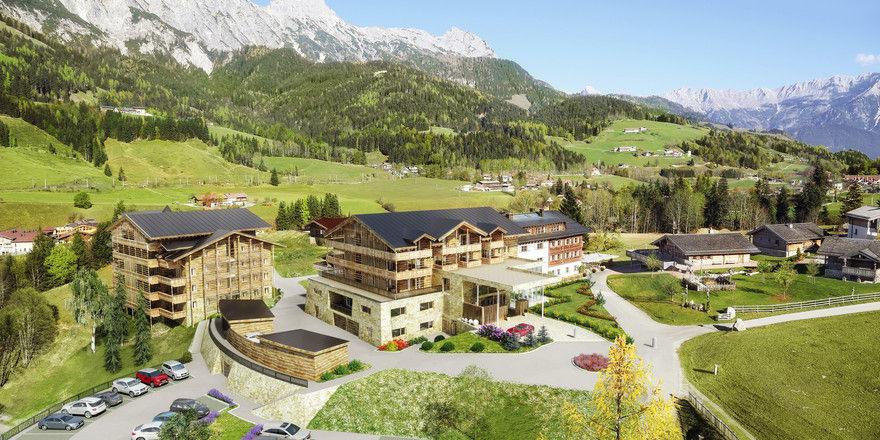 Umgeben von Bergen: Das Erholungsresort Puradies in Leogang
