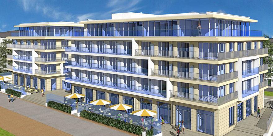 Ein paar Verzögerungen gab es: Das Kaiserstrand Beachhotel Bansin öffnet an Ostern erstmals seine Pforten
