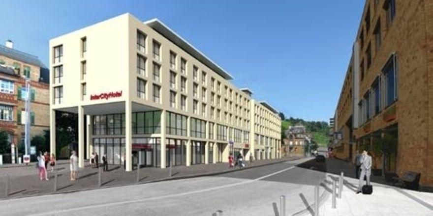 So soll's aussehen: Das geplante Intercity Hotel Esslingen