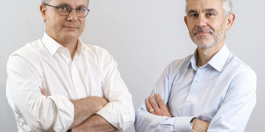 Sie setzten auf ausgewählte Hotels, nicht auf die breite Masse: Jean Luc Chrétien (links) und Guillaume de Marcillac, Co-CEOs von Fastbooking.