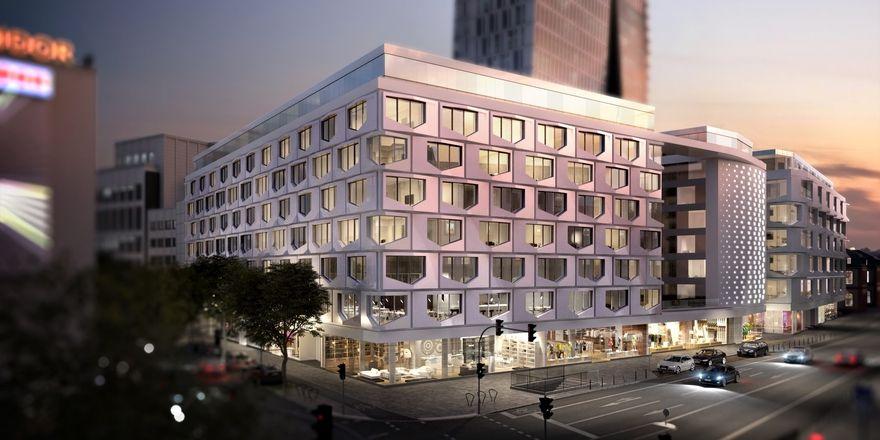So soll's aussehen: Der Entwurf für die geplante neue Immobilie Flare of Frankfurt