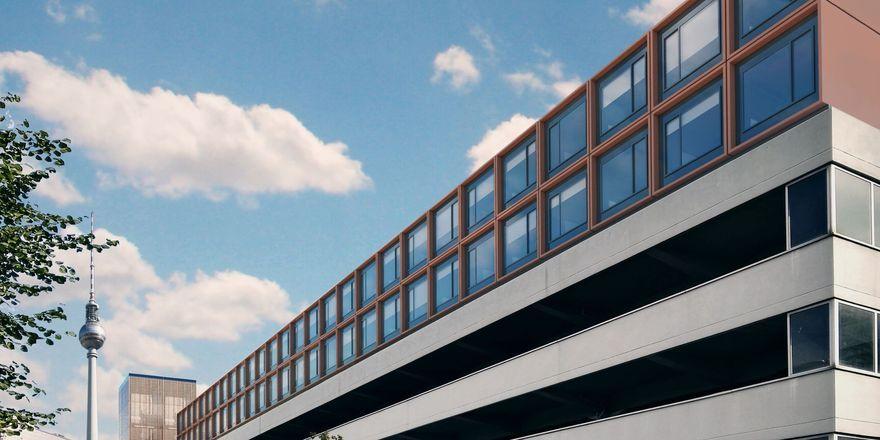 So könnte es aussehen: Eine Visualiserung des Unternehmens MQ Real Estate für seine geplanten Hotels auf Parkhäusern