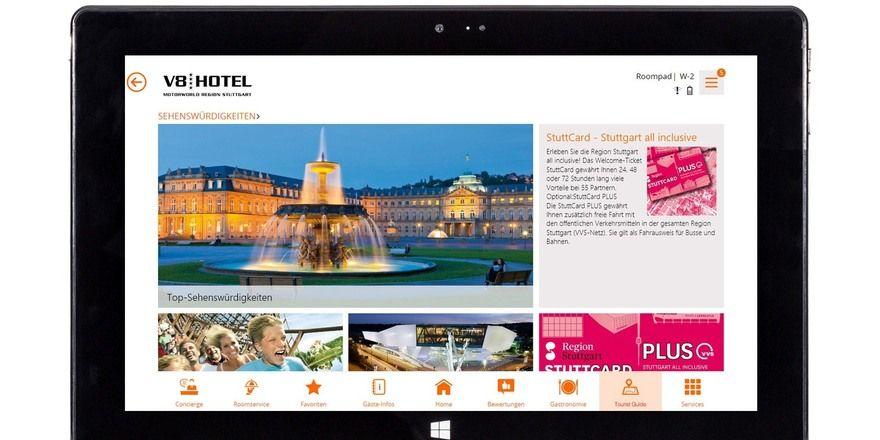 Passgenaue digitale Inhalte: Das bekommen Gäste bereits im V8-Hotel in Böblingen.