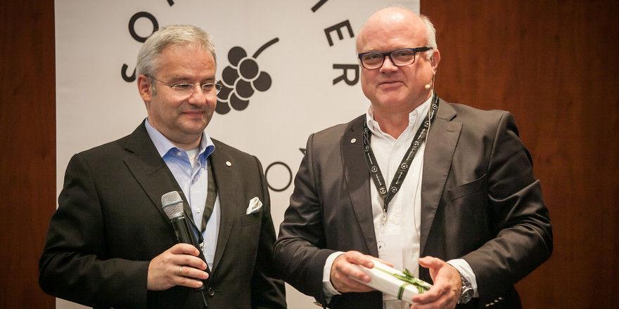 Vizepräsident und Präsident: Markus Del Monego (links) und Bernd Glauben