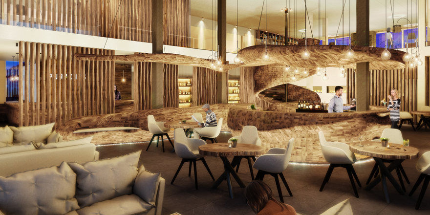 Spektakul res bar design im puradies allgemeine hotel for Design hotel leogang