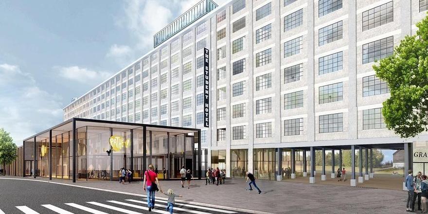 So soll es aussehen: Ein Rendering des geplanten Student Hotel in Maastricht