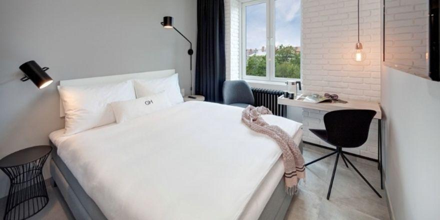 So soll's aussehen: Ein Musterzimmer des geplanten Gambino Hotel Cincinnati in München