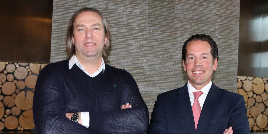 Aus Dolce wird Infinity: Andreas Striebel, Investor, Bauherr und Betreiber mit General Manager Erik Van den Bergh