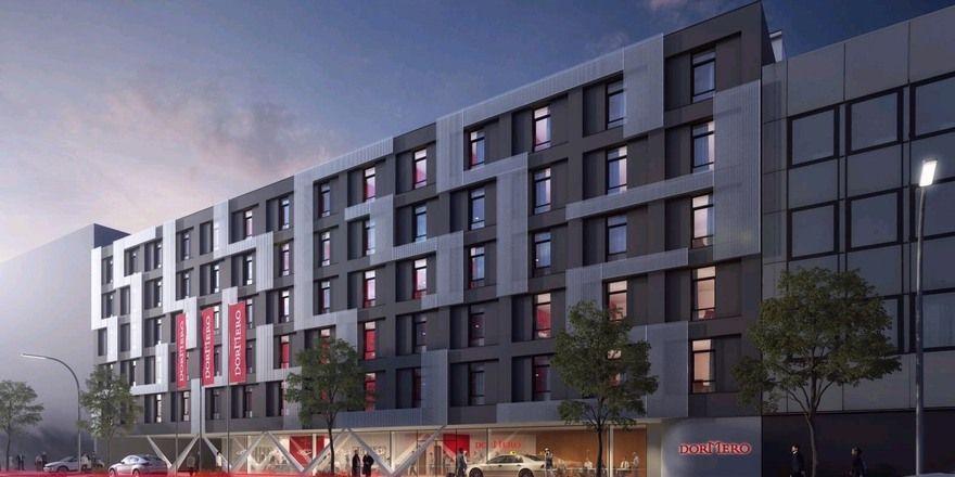 Neubau: Das Dormero in Ludwigsburg wird sehr modern.