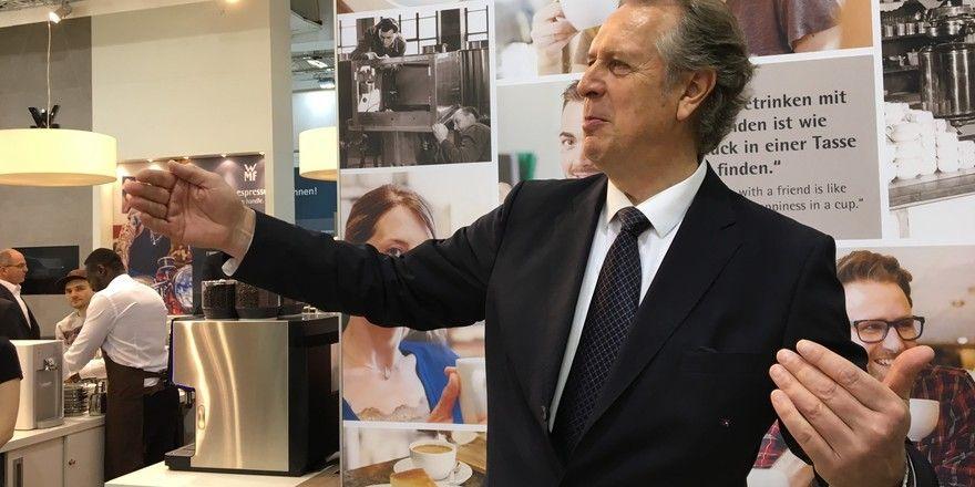Voll in seinem Element: Vorstandschef Volker Lixfeld