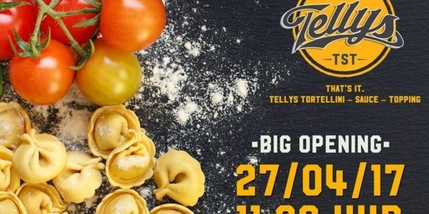 Tortellini für Frankfurt: So wirbt derzeit das neue Konzept Telly's TST für sein künftiges Angebot