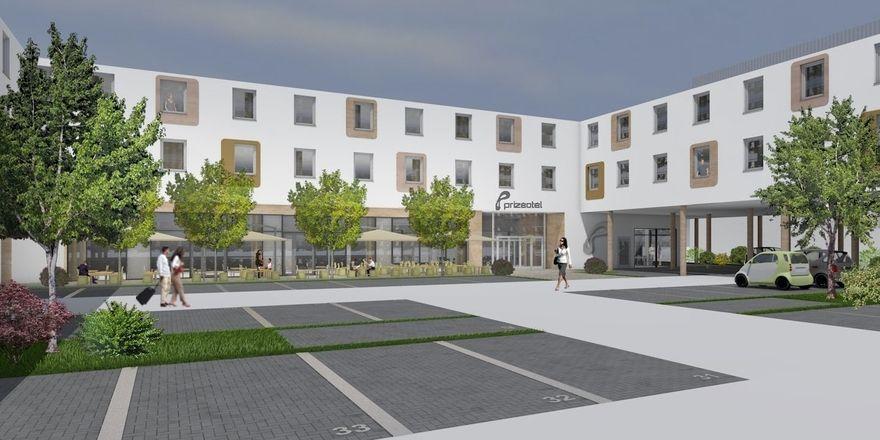 So soll es aussehen: Ein Rendering des geplanten Prizeotels am Münchner Flughafen