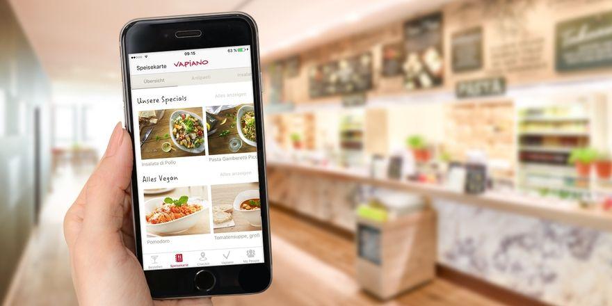 vapiano l sst mobil bestellen und bezahlen allgemeine hotel und gastronomie zeitung. Black Bedroom Furniture Sets. Home Design Ideas