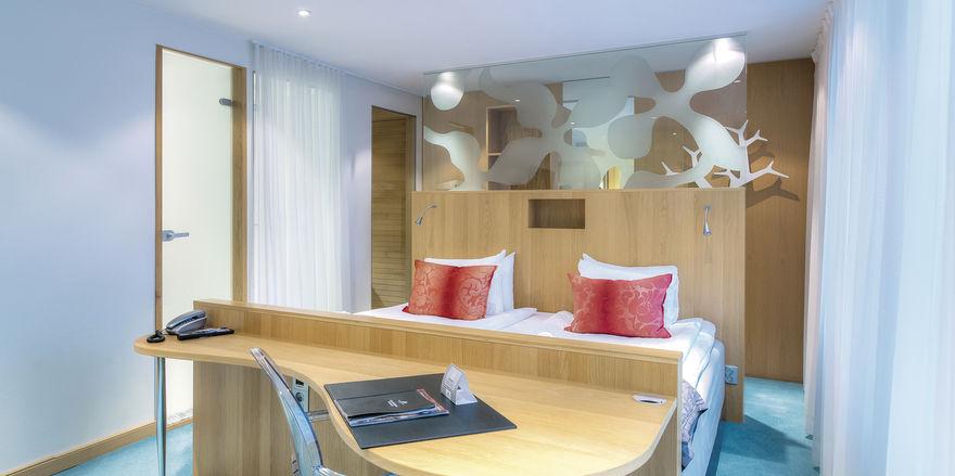 Offenes Raumkonzept mit Pfiff: Ein Zimmer der Marke ProfilHotels, mit der Ligula auch nach Deutschland expandieren will.