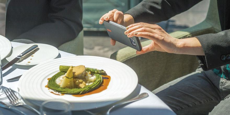 Virales Marketing: Attraktive Gerichte werden fotografiert und sorgen im Netz für ´Aufsehen.
