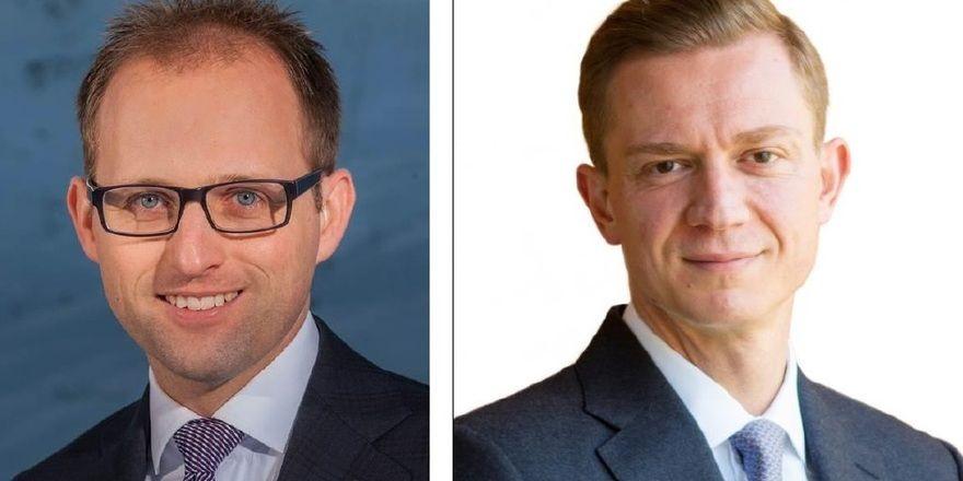Neue Aufgaben: Leo Maissen (links) wird Chief Development Officer bei der Tschuggen Hotel Group. Stefan Noll übernimmt die Position als Direktor imTschuggen Grand Hotel Arosa