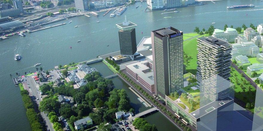So soll's aussehen: Ein Rendering des Maritim Hotel Amsterdam