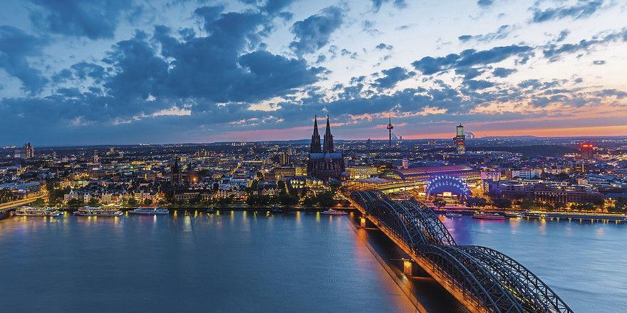 Spitzenreiter am Rhein: In der Hotellerie im Raum Köln ist der RevPar deutschlandweit am stärksten gestiegen.