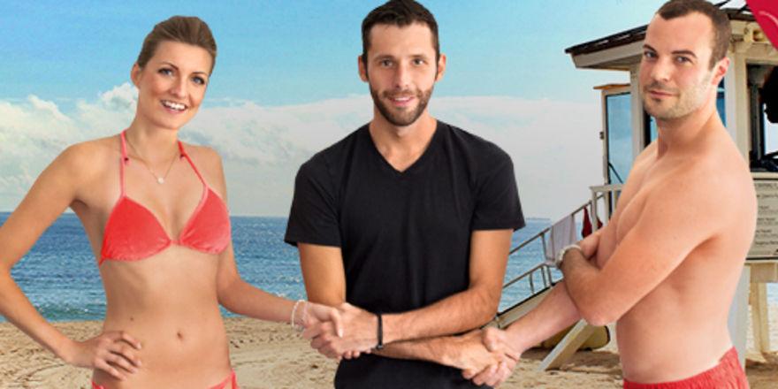So präsentiert sich das neue Dormero-Führungsteam: (von links) Manuela Halm, Dr. Marcus Maximilian Wöhrl und Fabian Fernekess machen im Rettungsschwimmer-Look auf sich aufmerksam