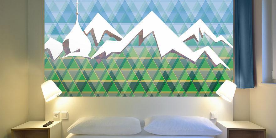 Schlafen unter Alpenpanorama: In den Zimmern des B&B Rosenheim
