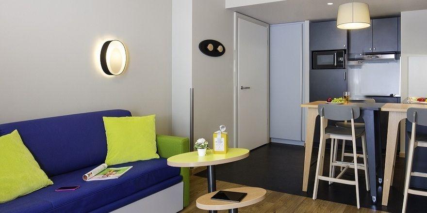 Wohnlich: Blick in ein Adagio-Apartment