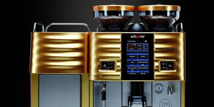 Limitiert: Die Schaerer Coffee Art Plus gibt es in Gold nur 125 Mal