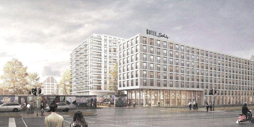 Schulz Hotel: Das Haus an der East Side Gallery soll Ende 2018 eröffnet werden.