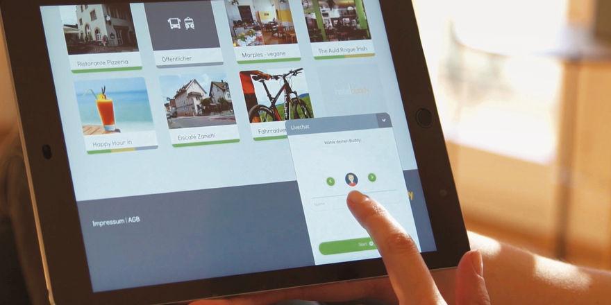 Digitaler Concierge: Das Programm Hotelbuddy liefert den Gästen Informationen auf das eigene Mobilgerät.