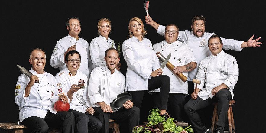 Flott in Szene gesetzt: Neun leidenschaftliche Köche aus den Reihen des VKD stehen Modell für ihren Berufsverband.
