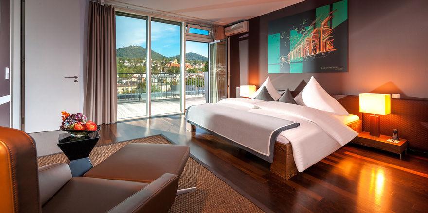 Dorint Hotel Maison Messmer: Glanzstück ist die 300 Quadratmeter große Suite mit Ausblick auf Baden-Baden.