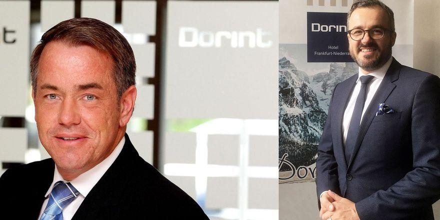 Jörg Krauß (l.) übernimmt die Direktion des Dorint Frankfurt-Niederrad von Sven Näser
