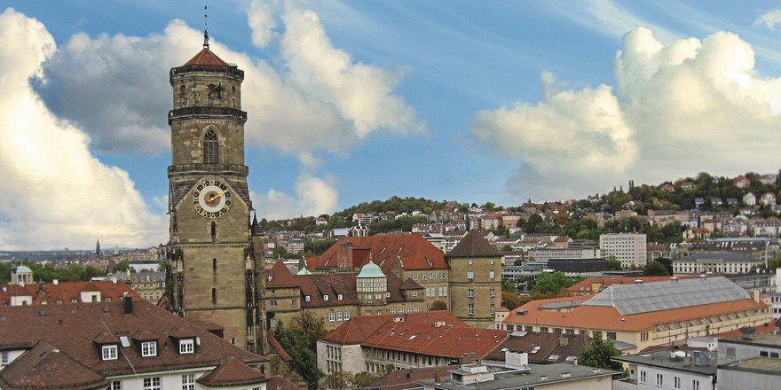 Blick über Stuttgart: Das Stadtbild wird sich in den nächsten Jahren durch Neubauten stark wandeln, etwa im Bereich des Bauprojekts Stuttgart 21.