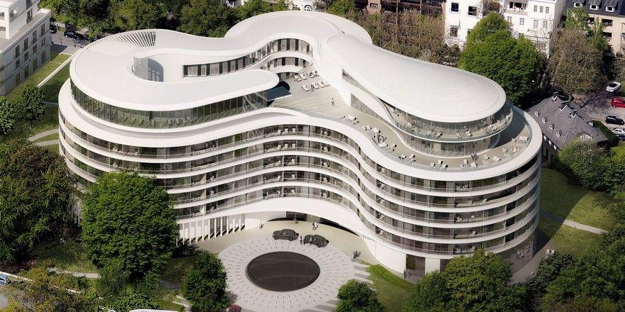 Organische Konstruktion: Die amorphe Form von The Fontenay soll das Ufer der Alster widerspiegeln (Modell).
