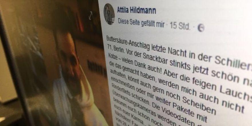 Attila Hildmann: Gereizte Reaktion auf Facebook