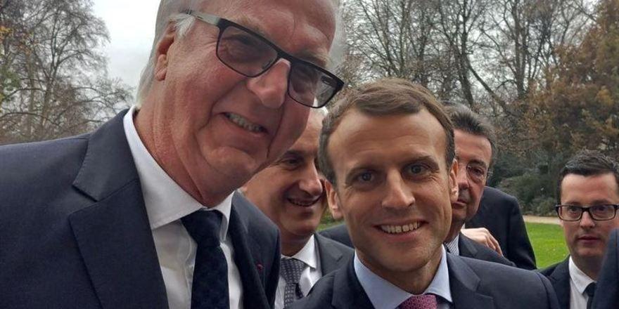 Heiner Finkbeiner und Emmanuel Macron: Gespräch im Elysée-Palast