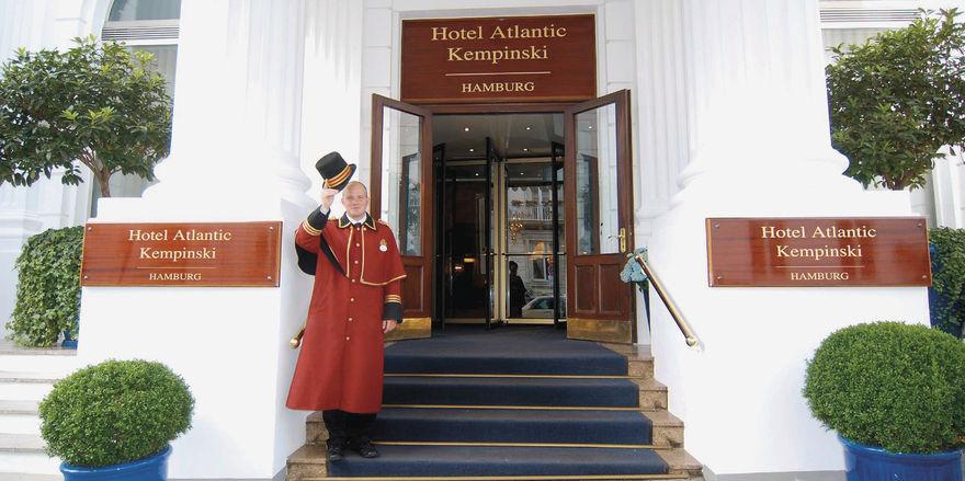 Hereinspaziert: Das Hotel Atlantic in Hamburg warb zu Heiligabend mit einer exklusiven Veranstaltung.
