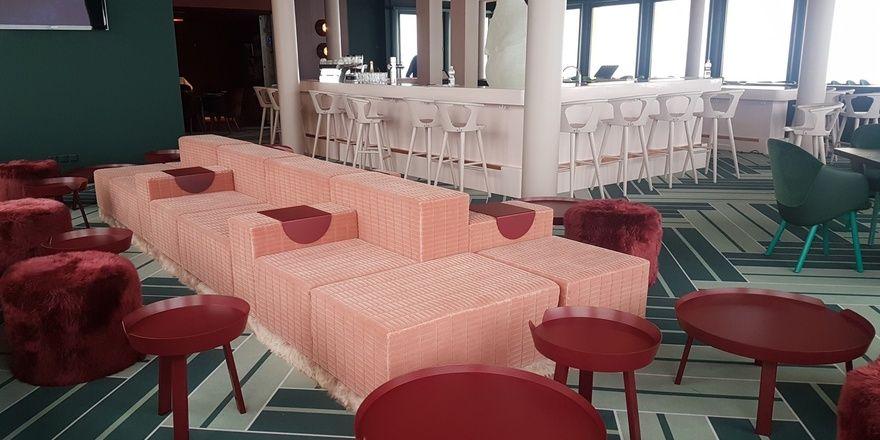 Mut zur Farbe: Lounge im White Marmot