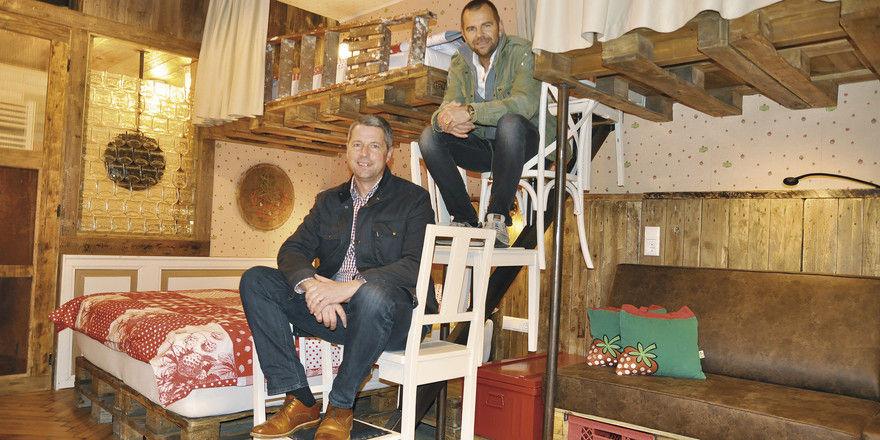 Starkes Duo: Mathias Freiheit (unten) wird das Hotel Alles Paletti von Robert Dahl leiten.