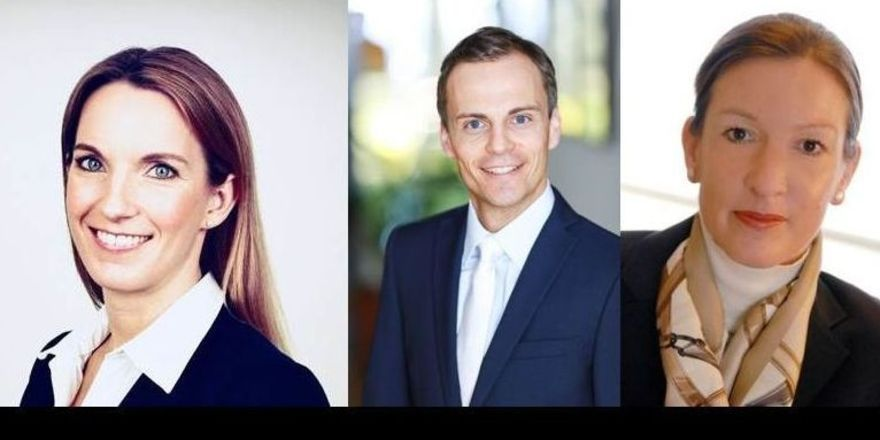Neu bei Bürgenstock: Martina Kessler, Jonas Reif und Bettina Haeberle