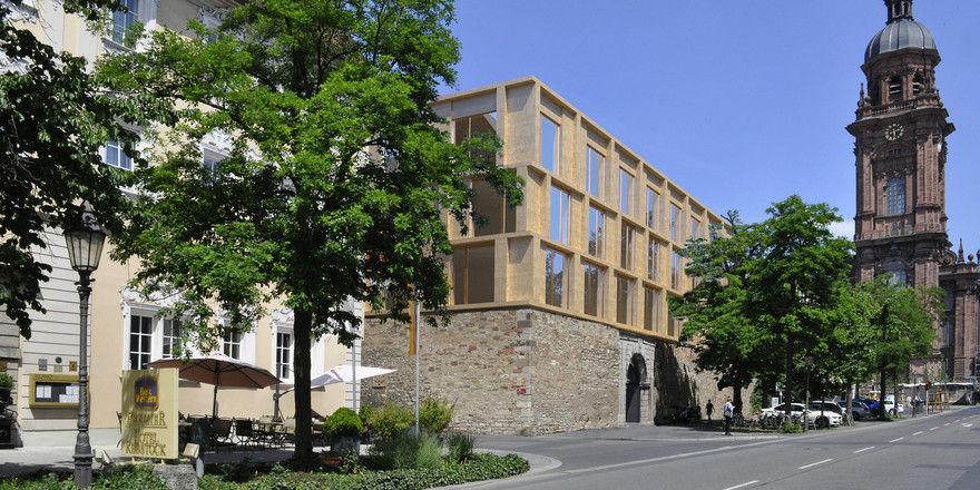 Gartenmauer als Erdgeschoss: So wird der Erweiterungsbau einmal aussehen