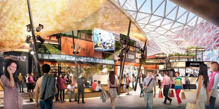 Millioneninvestition: Der Myzeil-Foodcourt geht Anfang 2019 an den Start