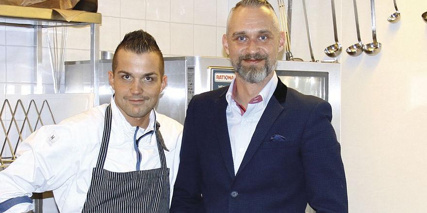 Fokus auf Fleisch und Wein: Küchenchef Timur Akgün und Operations-Manager Jan Schröder