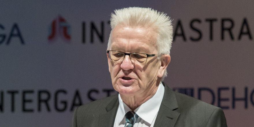 Startschuss für die Messe: Auch Winfried Kretschmann MdL, Ministerpräsident des Landes Baden-Württemberg, findet die Intergastra inspirierend